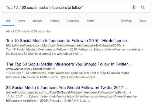 6f google range search