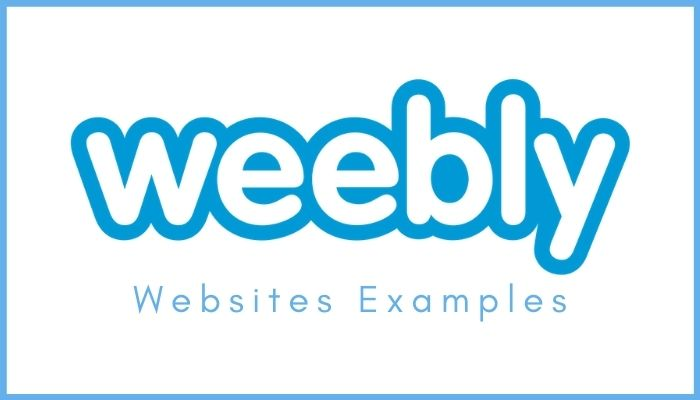 Weebly Websites Examples