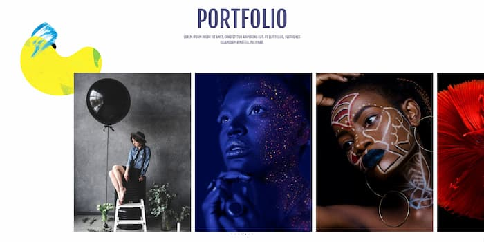 Astra photography website example