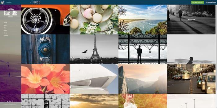 Coastline photography website example