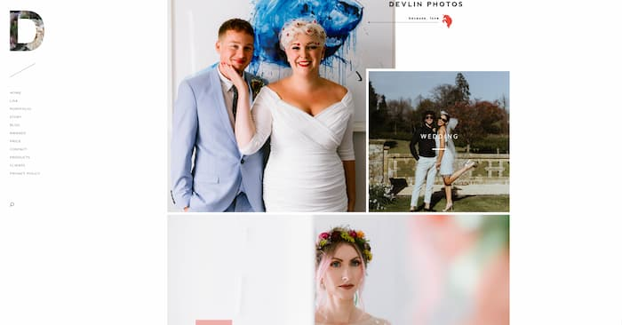 Divi photography website example