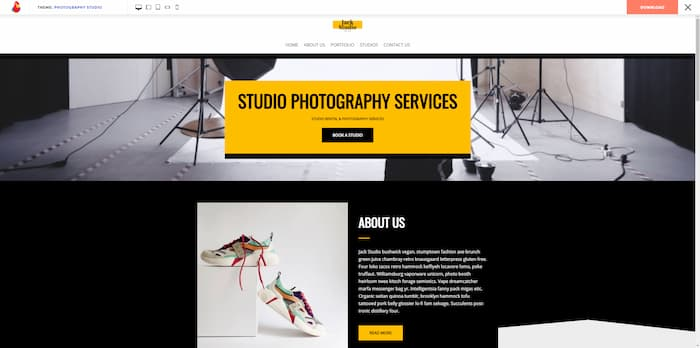 Neve photography website example