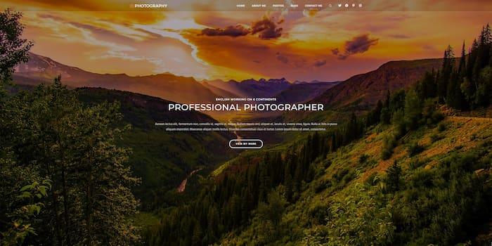 OceanWp photography website example