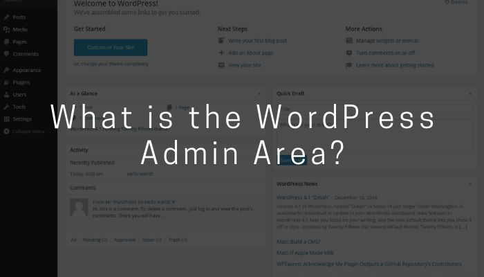 What is the WordPress Admin Area?